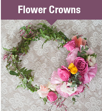 elegant flower crowns