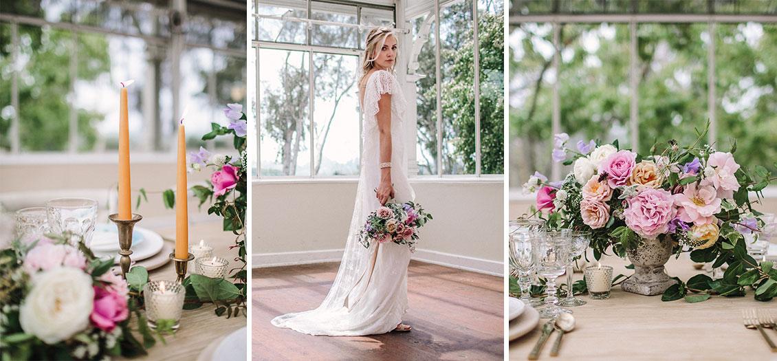 Garden style wedding flowers in santa barbara