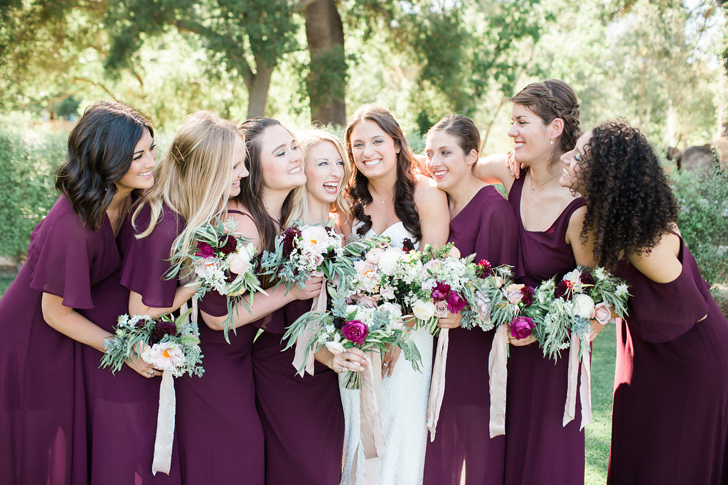 Bridal party wedding bouquets