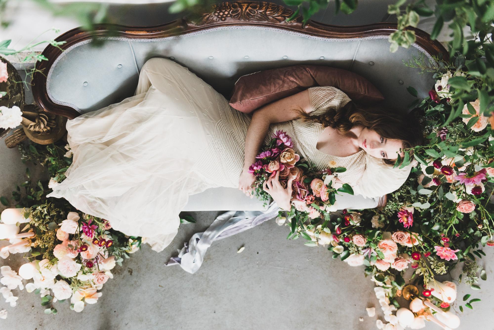 Garden style wedding flowers by Emily Reynolds
